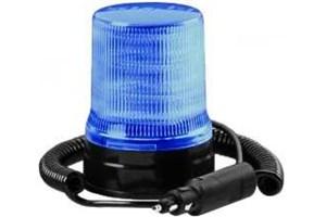 Maják LED, 12/24 V, magnetické uchycení, modrý