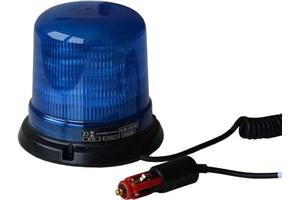 Maják LED, 12/24V, magnetický, modrý